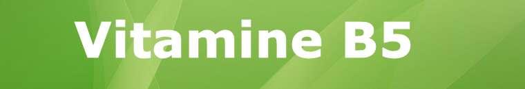 Vitamine B5 Pantotheenzuur