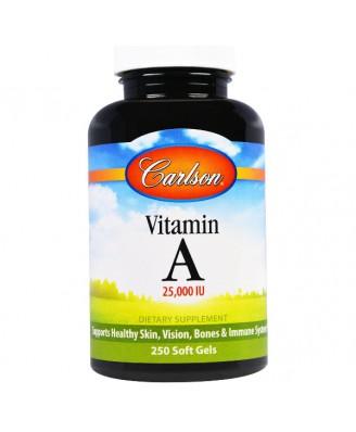 Carlson Labs, Vitamin A, 25000 IU, 250 softgels