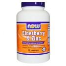 Now Foods, Elderberry & Zinc, 90 Lozenges