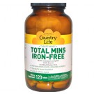 Total Mins Iron-Free Multi-Mineral Complex with Boron (120 Tablets) - Country Life
