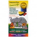 Children's Chewable Multi-Vitamin & Mineral, Assorted Flavors (180 Animals) - Nature's Plus