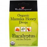 Wedderspoon Organic, Inc., Organic Manuka Honey Drops, Eucalyptus with Bee Propolis, 4 oz (120 g)