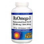 Rx Omega-3 Factors- EPA 400 mg/DHA 200 mg (240 softgels) - Natural Factors