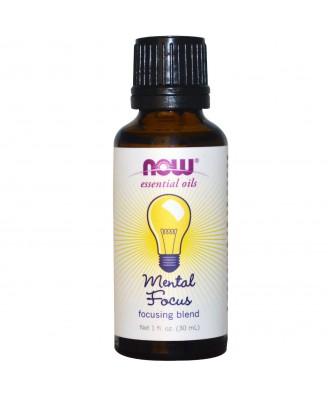 Essential Oils - Mental Focus (30 ml) - Now Foods