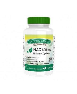 N-Acetyl Cysteine NAC 600 mg (non-GMO) (60 Vegicaps) - Health Thru Nutrition