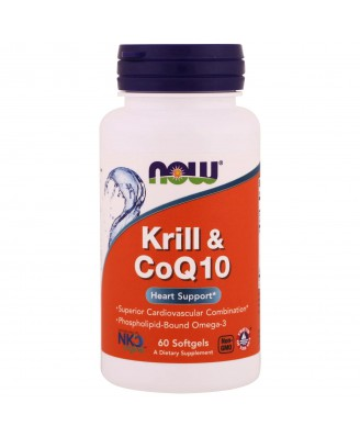 Krill & CoQ10 (60 softgels) - Now Foods