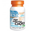 Doctor's Best, High Absorption CoQ10 with BioPerine, 400 mg, 180 Veggie Caps