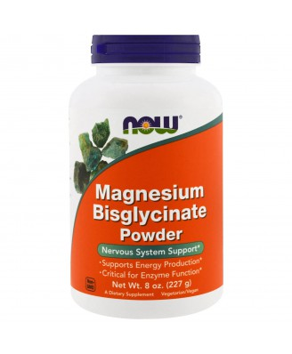 Magnesium Bisglycinate Powder (227 gram) - Now Foods