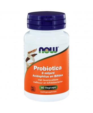Probiotica 8 miljard Acidophilus en Bifidus (60 vegicaps) - NOW Foods