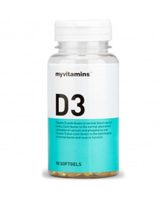 Myvitamins Vitamin D3, 90 Soft Gels (90 Softgels) - Myvitamins