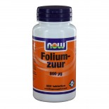 Foliumzuur 800 ?g (250 tabs) - NOW Foods