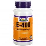 E-400 D-alfa tocoferyl (100 softgels) - NOW Foods