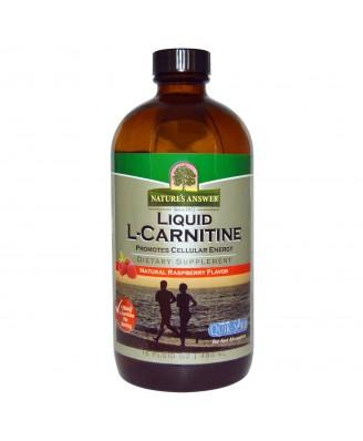 Liquid L-Carnitine, Natural Raspberry Flavor (480 ml) - Nature's Answer