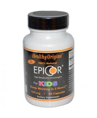 Healthy Origins, EpiCor for Kids, 125 mg, 60 Capsules