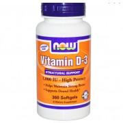 Vitamine D3, Hoge Dosering, 1000 IE (360 Softgels) - Now Foods
