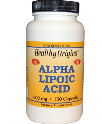 Healthy Origins, Alpha Lipoic Acid 600 mg, 150 Capsules