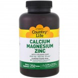 Calcium Magnesium Zinc - 250 Tablets - Country Life