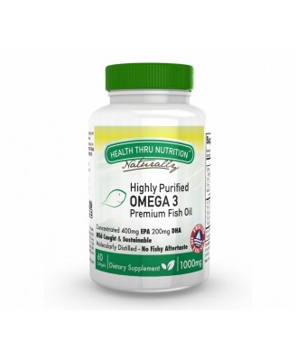 HP Omega-3 Premium 1000 mg (400 EPA / 200 DHA) (60 Softgels) - Health Thru Nutrition