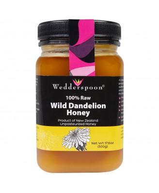 Wedderspoon Organic, Inc., 100% Raw Wild Dandelion Honey, 17.6 oz (500 g)