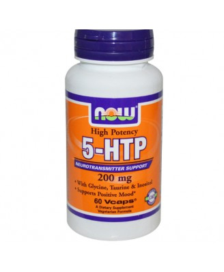 5-HTP Double Strength 200 mg (60 Veg Capsules) - Now Foods