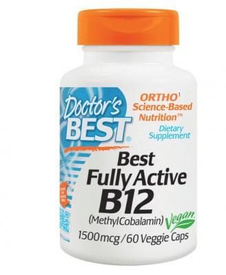 Doctor's Best, Best Fully Active B12, 1500 mcg, 60 Veggie Caps