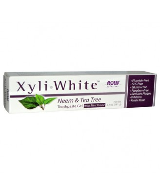 XyliWhite Toothpaste Neem & Tea Tree (181 g) - Now Foods