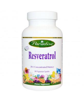 Paradise Herbs, Resveratrol, 180 Veggie Caps