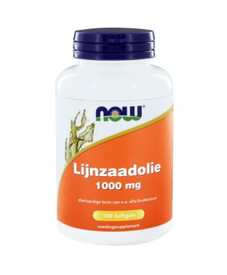 Lijnzaadolie 1000 mg (100 softgels) - NOW Foods