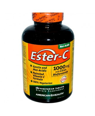 Ester-C Vitamine C met Citrus Bioflavonoiden (180 Veggie Tablets) - American Health