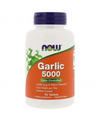 Garlic 5000 (90 tablets) - Now Foods