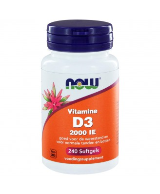 Vitamine D3 2000 IE (240 softgels) - NOW Foods