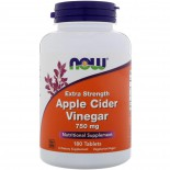 Apple Cider Vinegar- Extra Strength 750 mg (180 tablets) - Now Foods