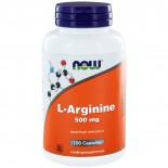 L-Arginine 500 mg (100 caps) - NOW Foods