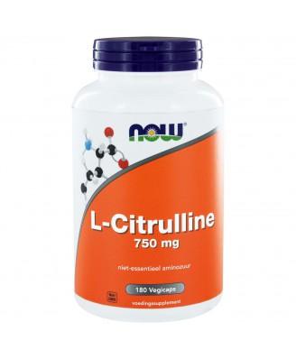 L-Citrulline 750 mg (180 vegicaps) - NOW Foods