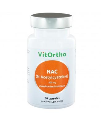 NAC (N-Acetylcysteïne) 500 mg (60 caps) - VitOrtho