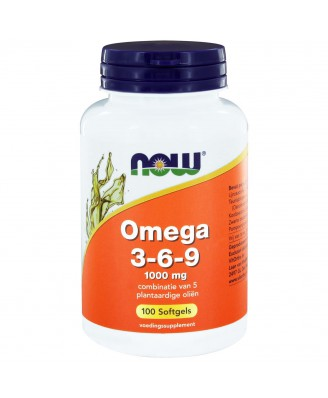 Now Foods, Omega 3-6-9, 1000 mg, 100 gelcapsules