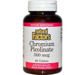 Natural Factors, Chromium Picolinate, 500 mcg, 90 Tablets