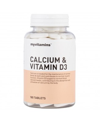 Calcium & Vitamin D3 (60 Tablets) - Myvitamins