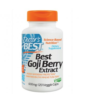 Best Goji Berry Extract 600 mg (120 Veggie Caps) - Doctor's Best
