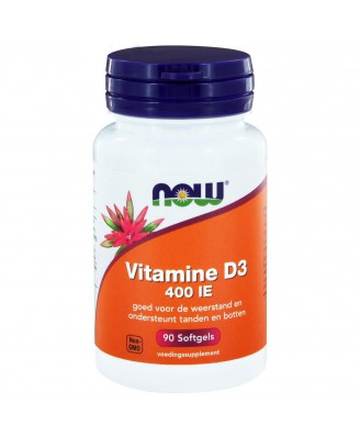 Vitamine D3 400 IE (90 softgels) - NOW Foods