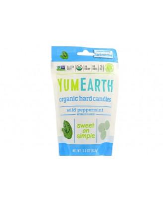 Organic Hard Candies Wild Peppermint 3.3 oz (93.6 g) - Yummy Earth