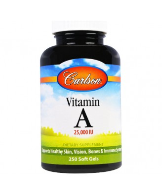 Vitamine A, 25.000 IE (250 Soft Gels) - Carlson Labs