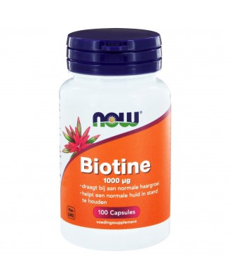 Biotine 1000 μg (100 caps) - NOW Foods