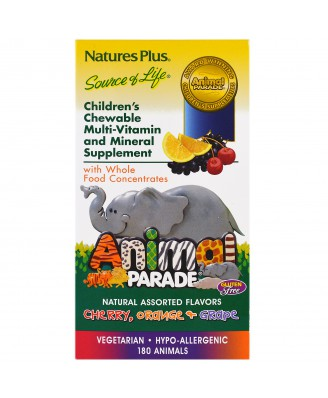 Children's Chewable Multi-Vitamin & Mineral, Assorted Flavors (180 Animals) - Nature's Plus
