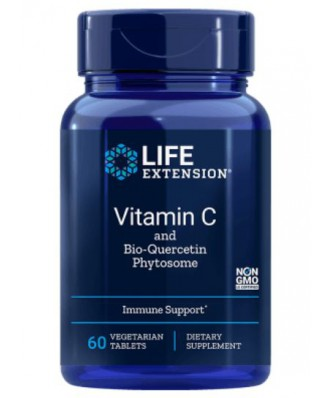 Vitamin C with Dihydroquercetin 1000 mg (60 Veggie Tabs ) - Life Extension