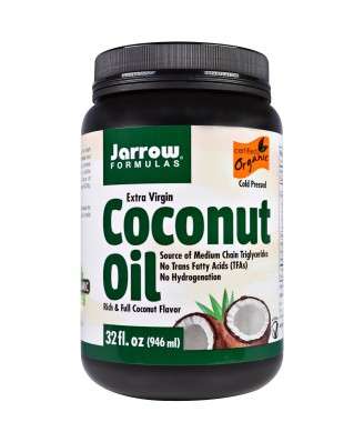Jarrow Formulas, Organic Extra Virgin Coconut Oil, 32 fl oz (946 ml)