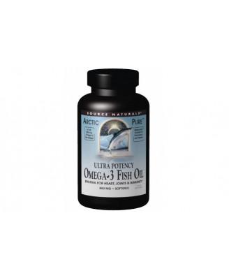 Arctic Pure- Omega-3 Fish Oil- Ultra Potency- 850 mg (60 softgels) - Source Naturals