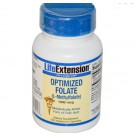 Vitamine B - Geoptimaliseerd Foliumzuur (L-Methylfolate), 1000 mcg (100 Veggie Caps) - Life Extension