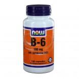 B6 100 mg (100 caps) - NOW Foods