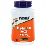 Betaïne HCl 648 mg (120 capsules) - Now Foods